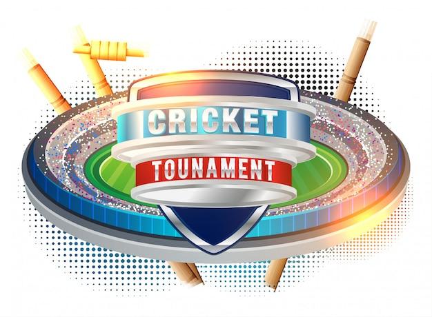 Vetor de cartaz de campeonato de críquete