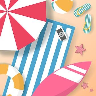 Vetor de cartaz de verão, viagens de verão de banner. vetor eps 10.