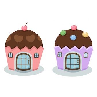 Vetor de casa de bolo