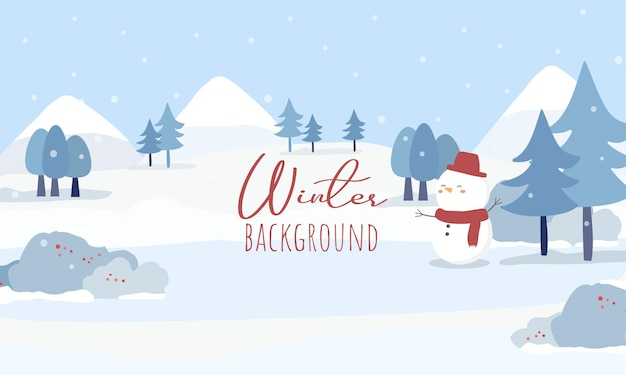 Vetor de casas, estradas e florestas cobertas de neve