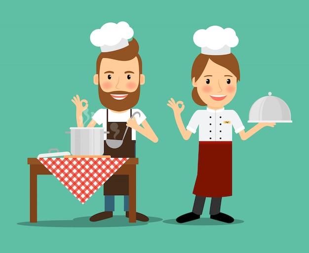 Vetor de chefs culinários