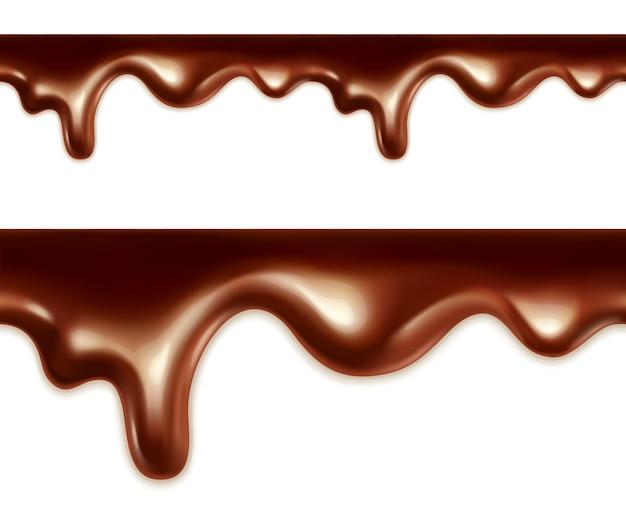 Vetor de chocolate derretido sem costura