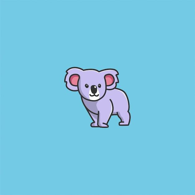 Vetor de coala fofo