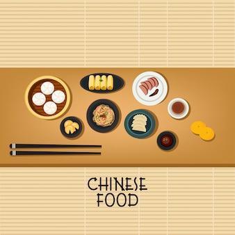Vetor de comida chinesa