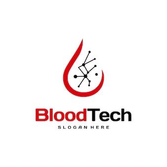 Vetor de conceito de design de logotipo pix blood technology, modelo de design de logotipo blood healthcare, doador de sangue