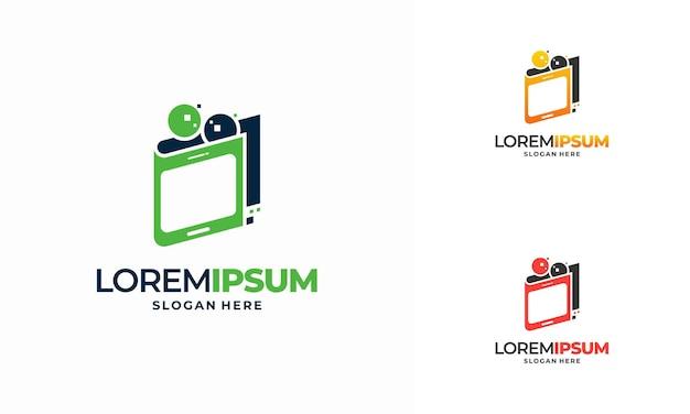 Vetor de conceito de design de logotipo smart pay, ícone de símbolo de logotipo de pagamento online, logotipo de carteira digital