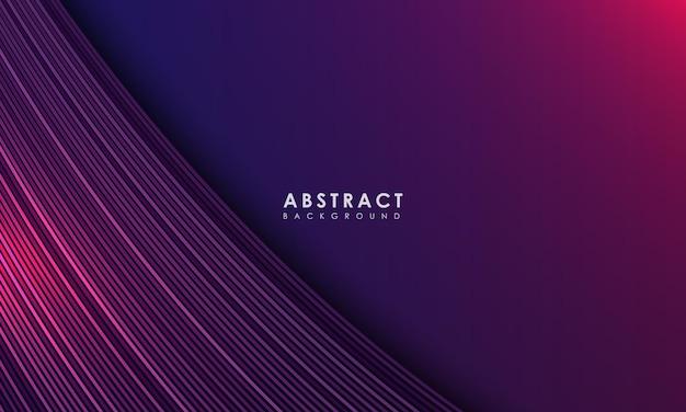 Vetor de conceito de página de destino moderna abstrato roxo ondulado