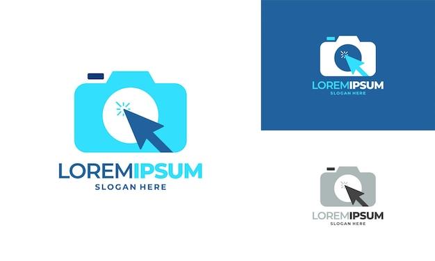 Vetor de conceito de projetos de logotipo de fotografia de câmera,