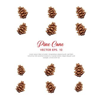 Vetor de cone de pinho