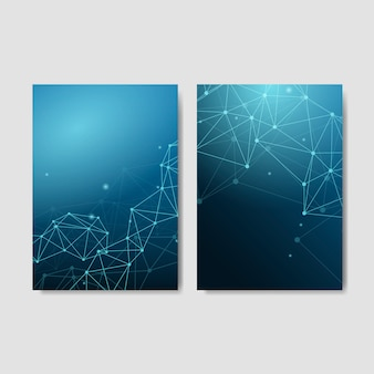 Vetor de conjunto abstrato azul textura neural