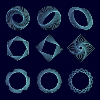 Vetor de conjunto de elementos geométricos abstratos