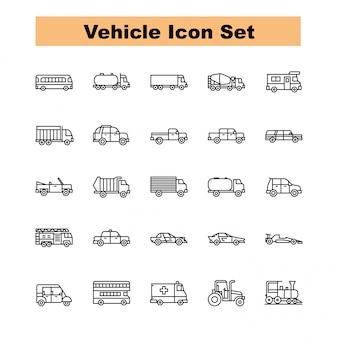 Vetor de conjunto de ícones de veículo