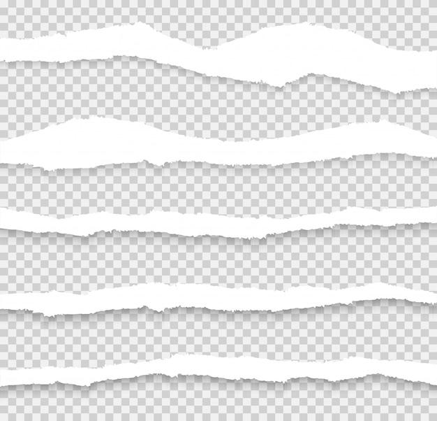 Vetor de conjunto de papel rasgado, em camadas