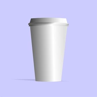Vetor de copo de plástico branco