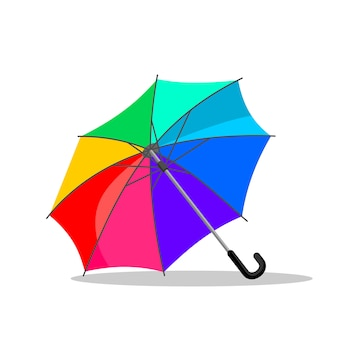 Vetor de cores do guarda-chuva.
