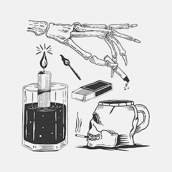 Vetor de crânio de ilustração