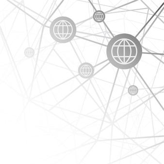 Vetor de dados globais da internet