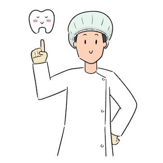 Vetor de dentista