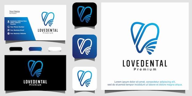 Vetor de desenho abstrato de logotipo dental
