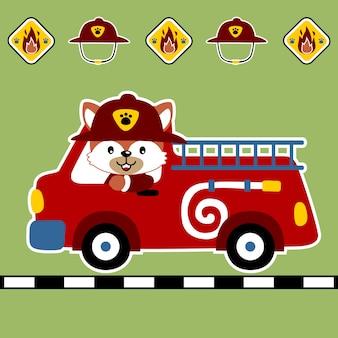 Vetor de desenho animado de bombeiros