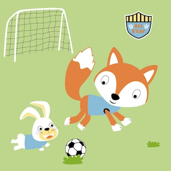 Vetor de desenho animado de futebol