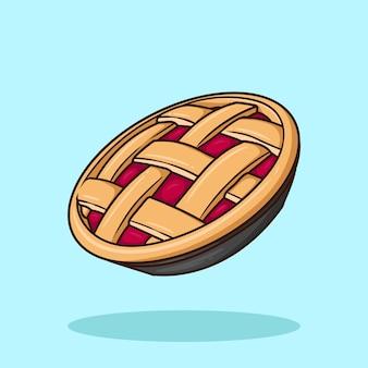 Vetor de desenho animado de torta de maçã