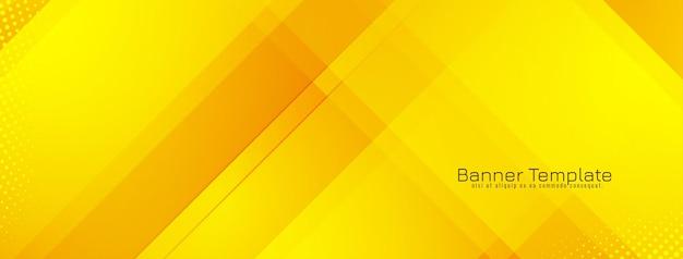 Vetor de desenho de banner geométrico moderno de cor amarela brilhante