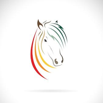 Vetor de desenho de cabeça de cavalo em fundo branco ilustração em vetor em camadas editável e fácil