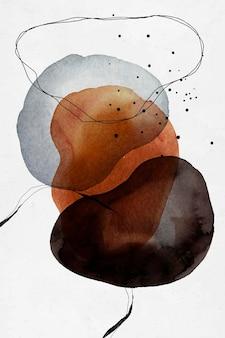 Vetor de desenho de círculos coloridos abstratos em aquarela
