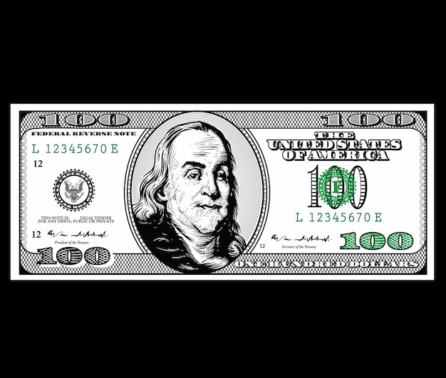 Vetor de desenho de dólar