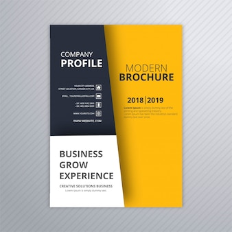 Vetor de desenho de modelo de brochura empresarial moderno