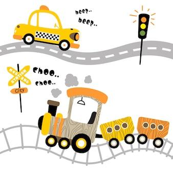 Vetor de desenhos animados de transporte