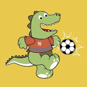 Vetor de desenhos animados jogador de futebol