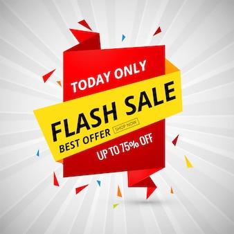Vetor de design colorido de banner criativo de venda flash