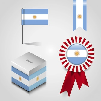 Vetor de design de bandeira argentina