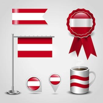 Vetor de design de bandeira de áustria