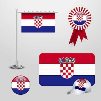 Vetor de design de bandeira de croácia
