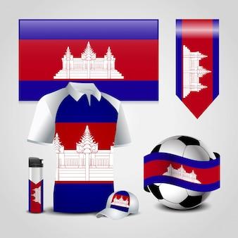 Vetor de design de bandeira do camboja