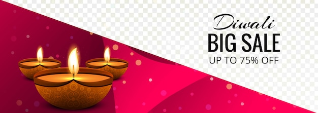 Vetor de design de banner colorido super venda diwali