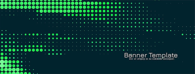 Vetor de design de banner de meio-tom abstrato verde