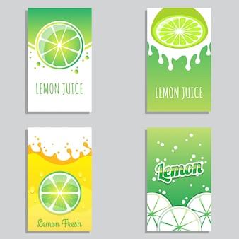 Vetor de design de banner de suco de limão fresco