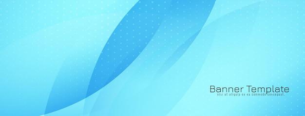 Vetor de design de banner moderno e elegante de estilo de onda azul
