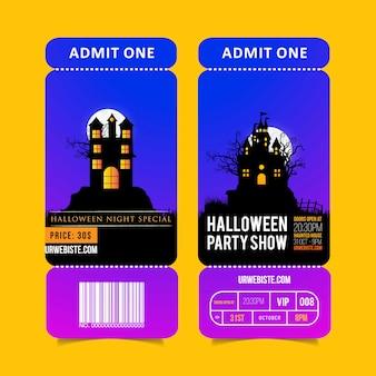 Vetor de design de brochura de festa hallowen