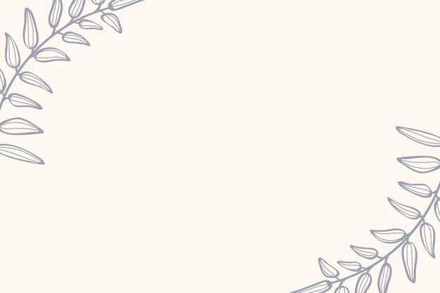 Vetor de design de cartão com moldura frondosa
