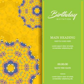 Vetor de design de cartão de aniversário