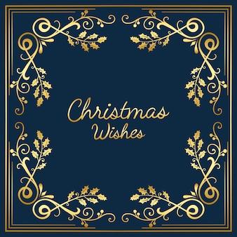 Vetor de design de cartão de desejos de natal
