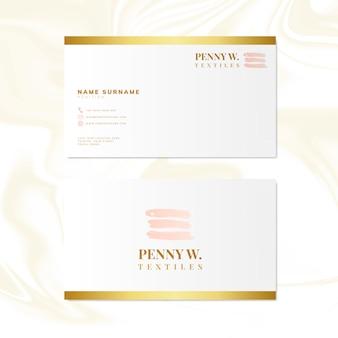 Vetor de design de cartão de nome de moda e beleza