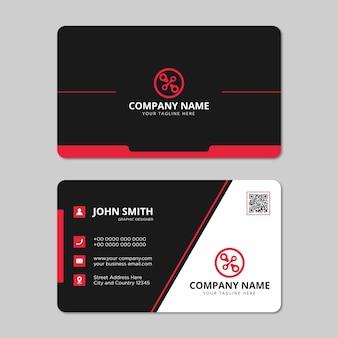 Vetor de design de cartão de visita profissional moderno