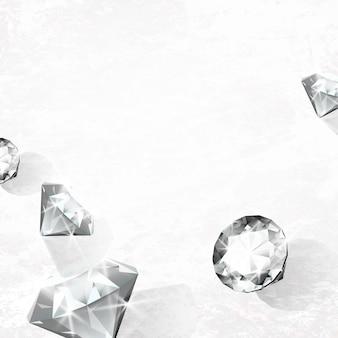 Vetor de design de diamante de cristal transparente