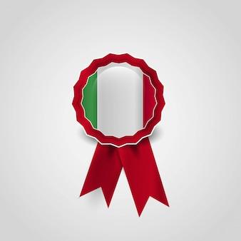 Vetor de design de distintivo de bandeira de itália
